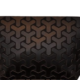 Matte Black Y Pattern Clutch