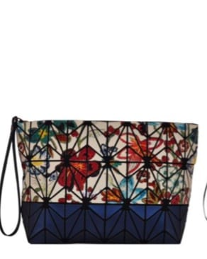 Floral Two Tone Geo Clutch