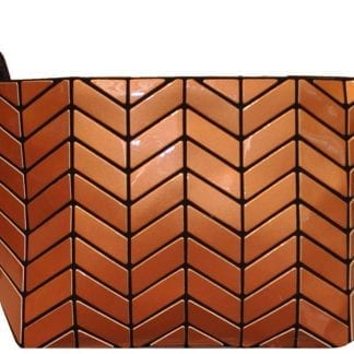 Shiny copper chevron clutch