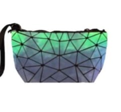 Iridescent White Geo Coin Purse