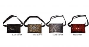 Geo Belt Bag in Glitter finish