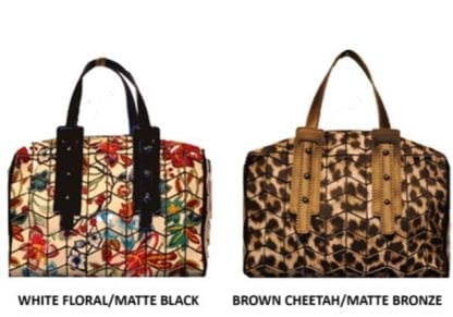 Two Tone Printed Duffle