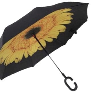 Smart Umbrella with Flower Background