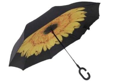 Smart Umbrella with Flower Background