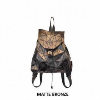 Matte Bronze Geo Back Pack