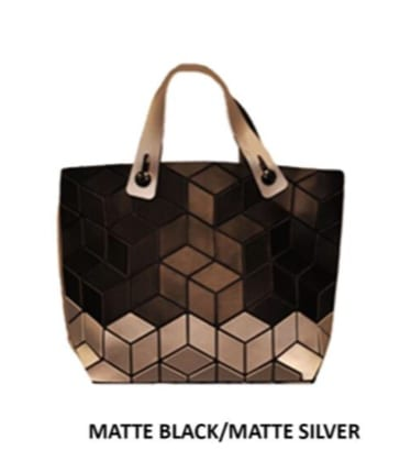 Two Tone Slanted Geo Mini Tote