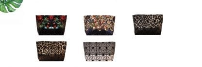 Printed Two Tone Geo Clutch