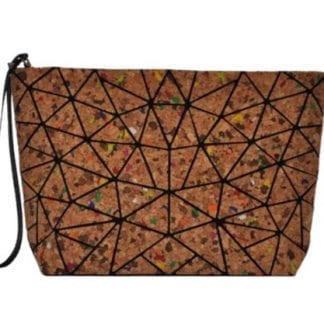 Slanted Triangle Geo Clutch